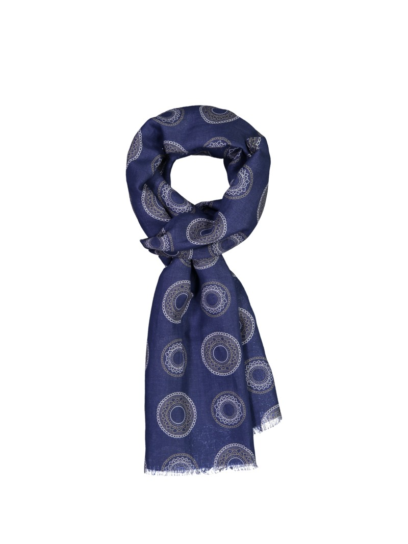 Stenströms Scarf in a linen blend BLUE in plus size