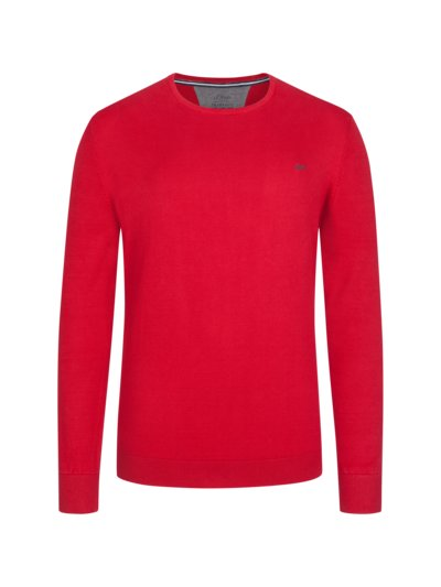 Pullover, O-Neck in ROT