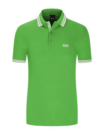 Polo shirt with contrast collar v GREEN