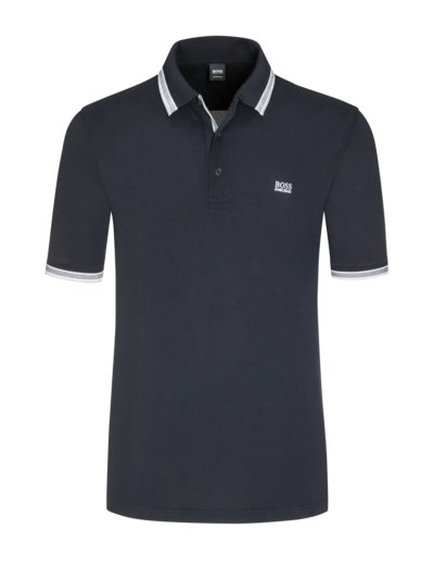 Polo shirt with contrast collar, B-Paddy v BLACK