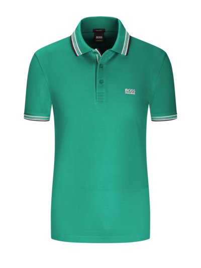 Polo shirt with contrast collar v PETROL