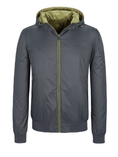 Reversible blouson jacket with hood v GREY
