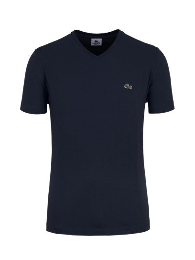 T-shirt with V-neck made of pure cotton v MARINE