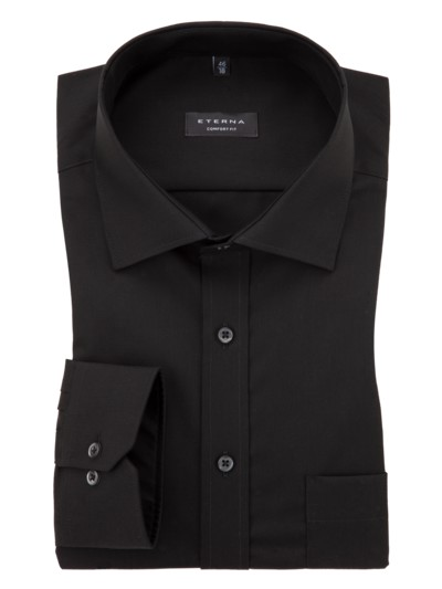 City shirt – wash & wear v BLACK