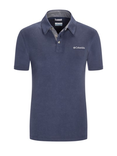 Trekking-Shirt im Microfaser-Mix in BLAU