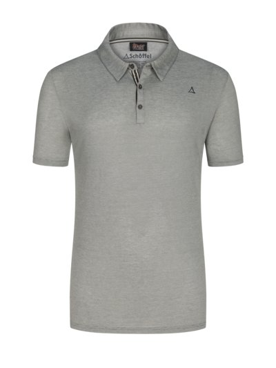 Polo shirt with welted breast pocket v GREY