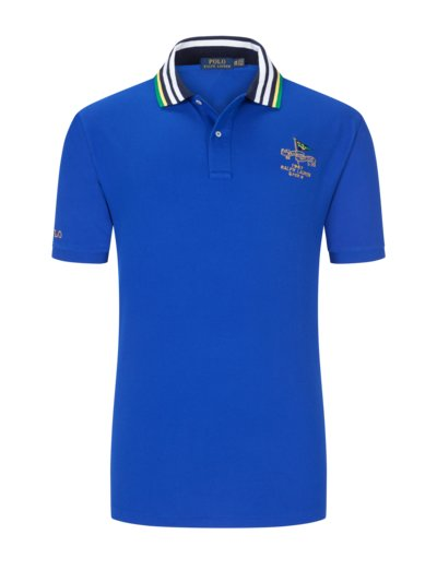 Poloshirt, 100% Baumwolle in ROYAL