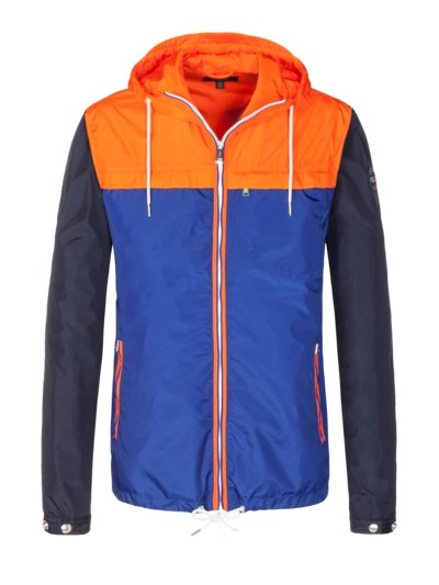 Stylish casual jacket in a colour block design v BLUE