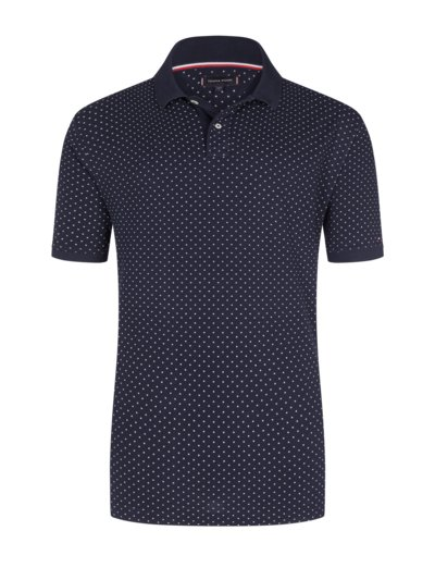 Poloshirt mit Allover-Print in MARINE