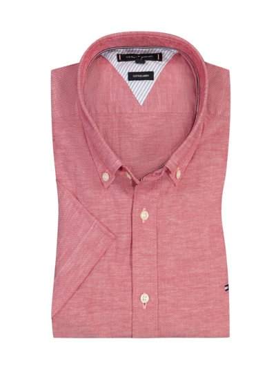 Casual shirt in a linen blend v RED