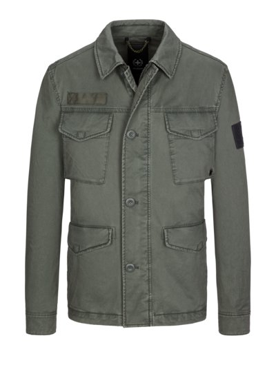 Field jacket with stretch fabric v OLIVE-