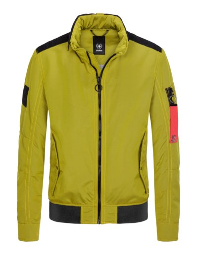 Casual jacket with a concealed hood v YELLOW