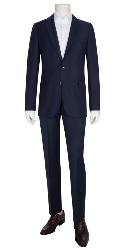 Suit in a wool blend v BLUE