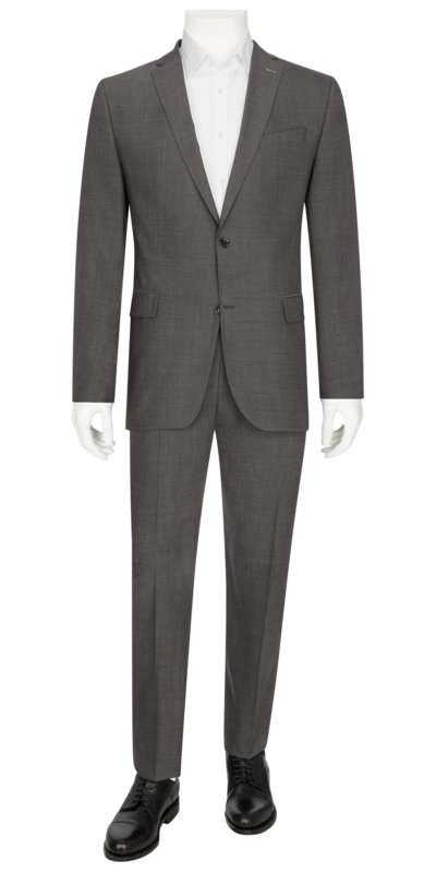 Business suit made of pure virgin wool v GREY