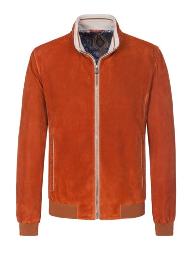 Lederjacke in Blouson-Form in ORANGE