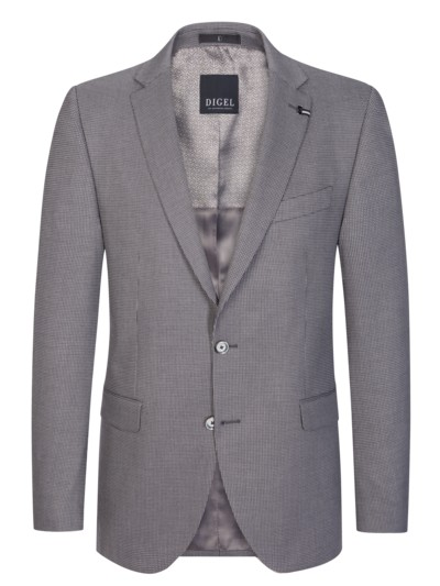 Blazer in a pinpoint design v GREY