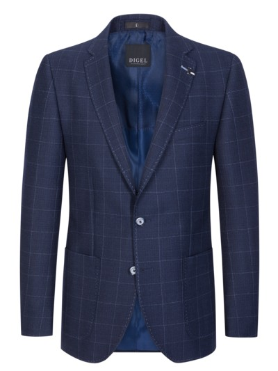 Stylish blazer with windowpane pattern v BLUE