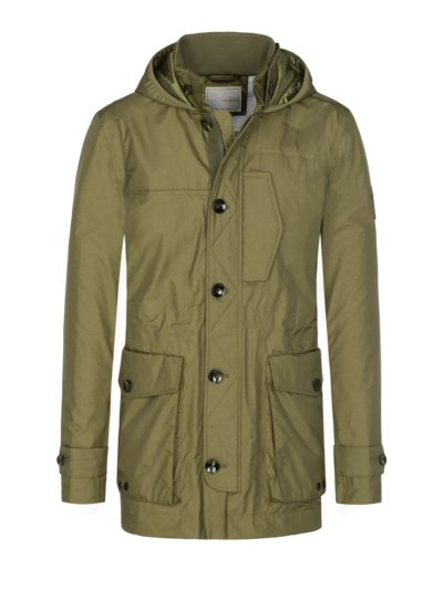 Parka with practical hood v OLIVE-