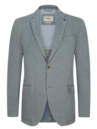 Casual blazer with stretch fabric v GREEN