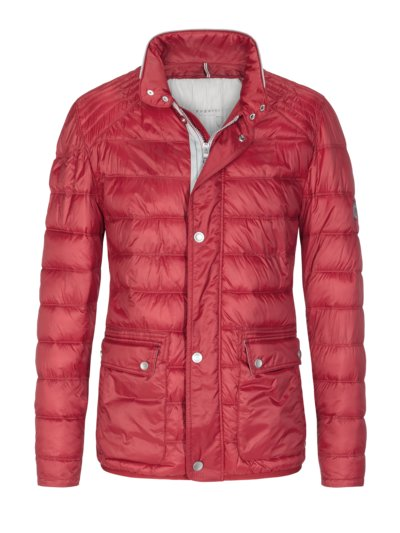 Casual jacket with quilted pattern v RED