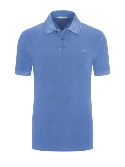 Poloshirt im Washed-Look in BLAU