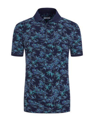 Polo shirt with floral pattern v MARINE