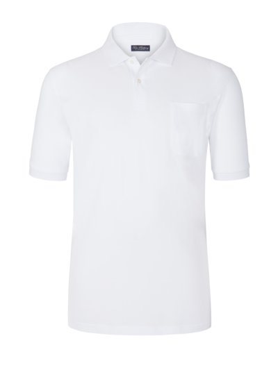 Polo shirt with breast pocket v WHITE