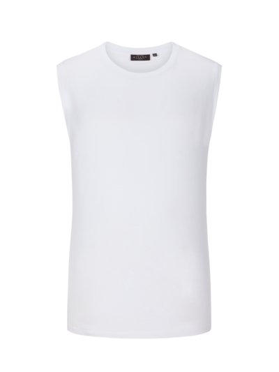 Comfortable tank top, plain v WHITE