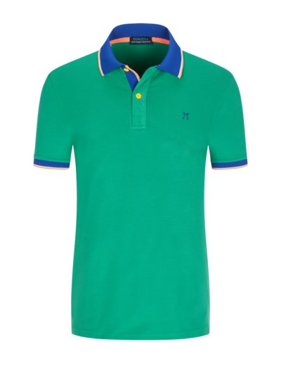 Polo shirt with stretch v GREEN