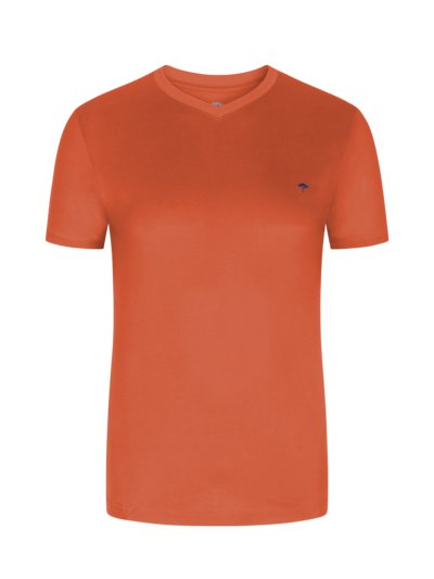 T-Shirt, V-Neck in ORANGE