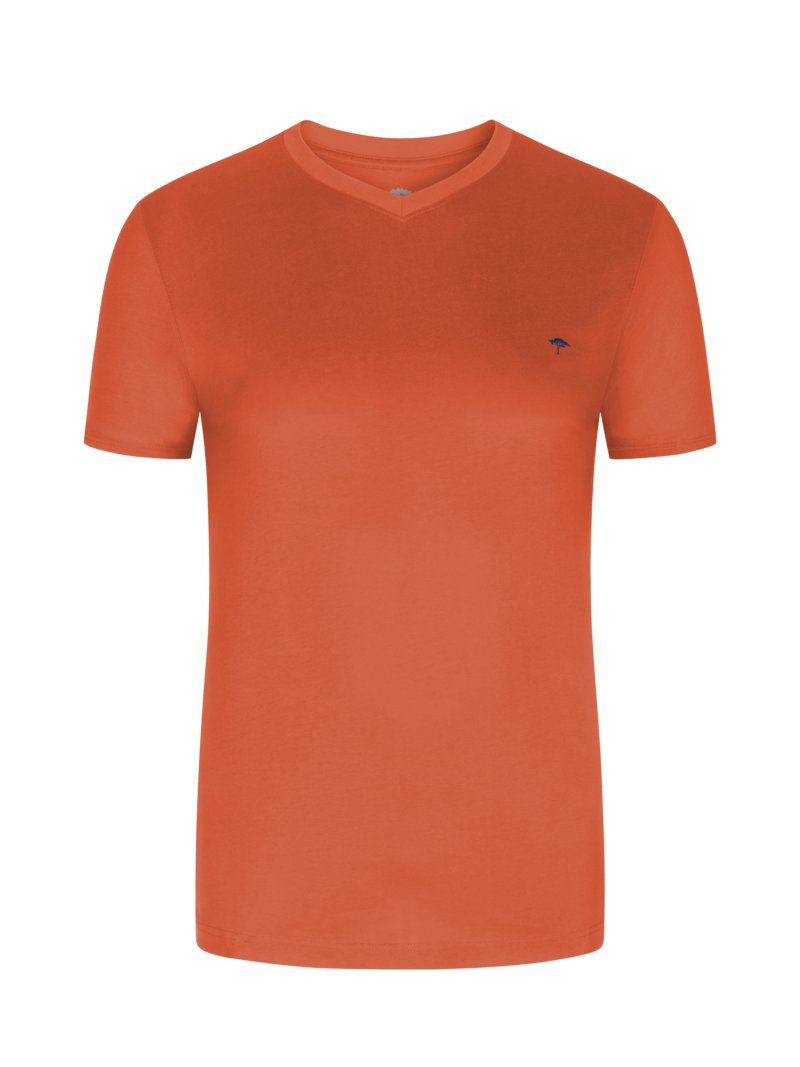 Fynch-Hatton T-Shirt, V-Neck ROT in Übergröße