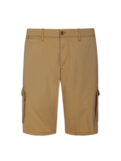 Shorts with cargo pockets v COGNAC