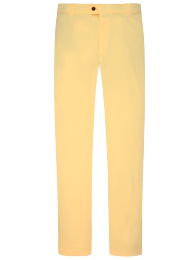 Stretch chinos v YELLOW