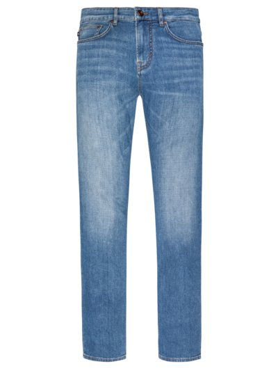 Jeans in a cotton blend v LIGHT BLUE