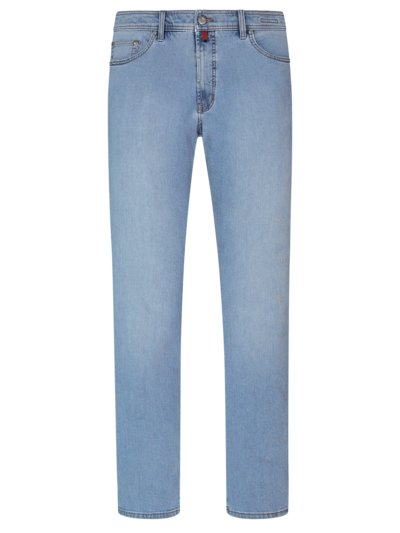 Denim jeans in a 5-pocket style v BLUE