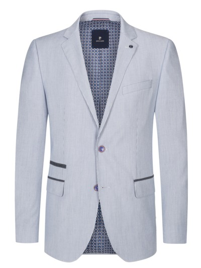 Stylish blazer in a fine line design v LIGHT BLUE