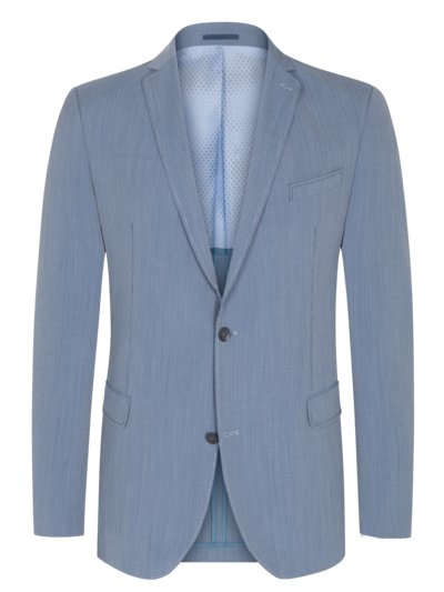 Blazer with Fineliner pattern v BLUE