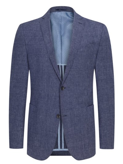 "Blazer in ""Cross Ply"" fabric v BLUE"