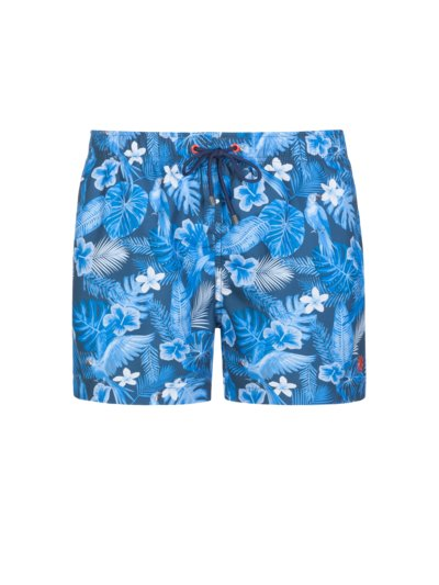 Swimming trunks with Hawaii print v MARINE