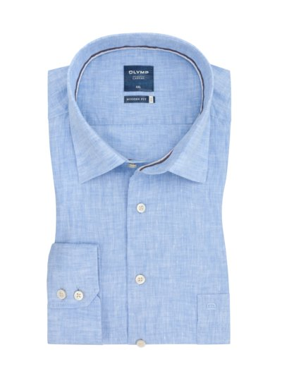 Casual modern fit shirt, breast pocket v LIGHT BLUE