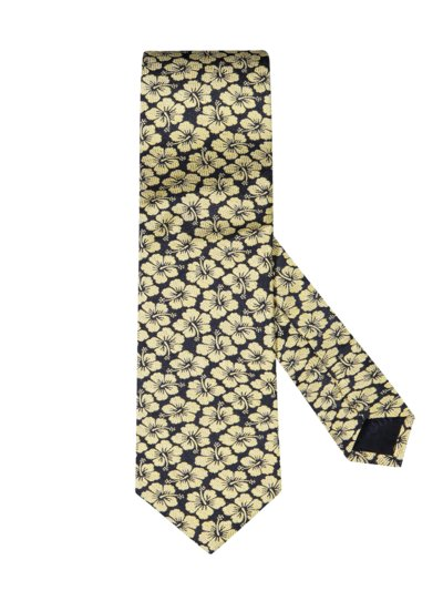 Tie with floral pattern v YELLOW
