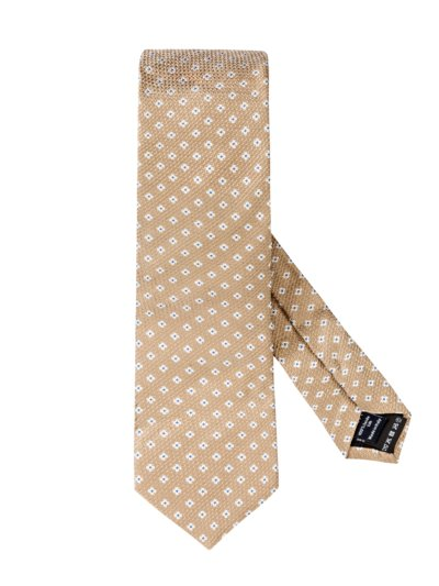 Tie with a stylish pattern v BEIGE