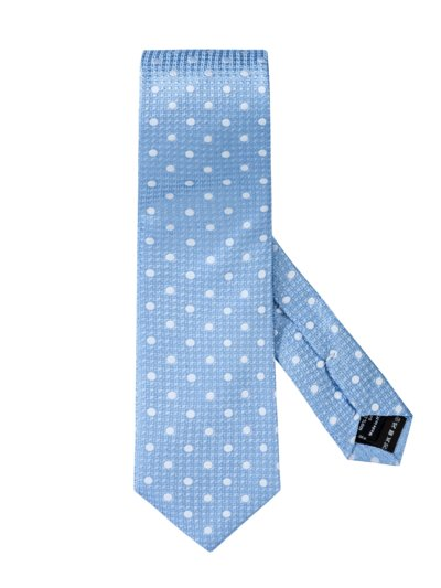 Tie with dotted pattern v LIGHT BLUE
