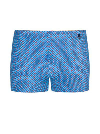 Swimming trunks with a stylish pattern v BLUE
