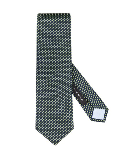 Tie with a stylish pattern v GREEN