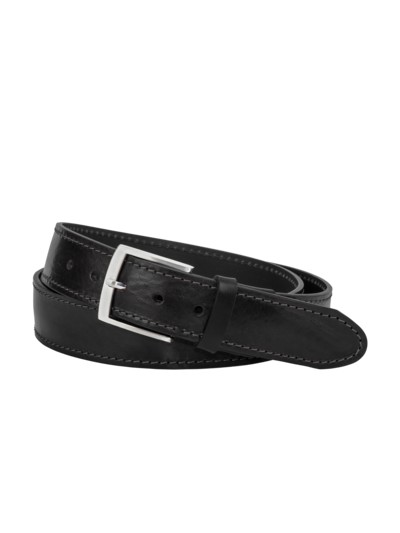 Belt with pin buckle v BLACK