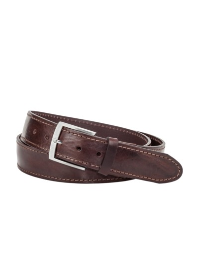 Belt with pin buckle v BROWN
