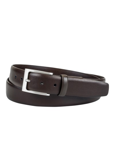 Belt with elasticated insert v BROWN