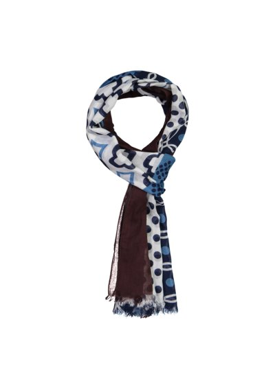 100% cotton scarf v BROWN