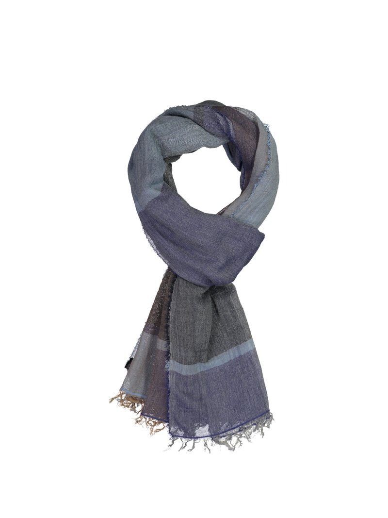 Dante Scarf with check pattern MARINE in plus size